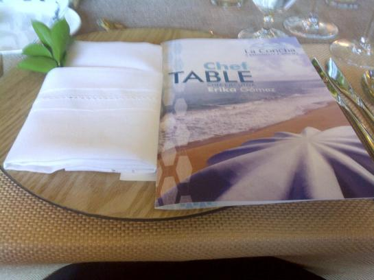 Chef Table Menu