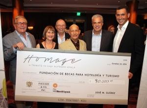 Hugh Andrews, Carol Dalmau, Arnold Benus, Alfredo Ayala, Eric Ripert y Jose M. Suarez