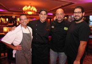 Chefs Juan Jose Cuevas, Jose Santaella, Mario Pagan y Jose Enrique Montes