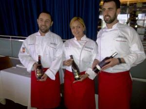 Chefs Ricardo Gonzalez Sostre, Xionara Marquez y Alberto Llorente con Vinos Torres