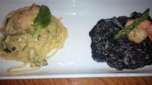 Linguinni y Risotto