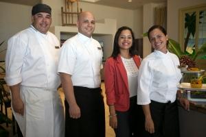 Chef Ricky Rivera y su equipo