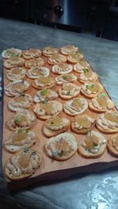 Cata Siglo de Oro Crostini con Foie Gras y Mermelada de cebolla