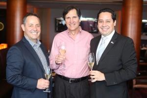 Albert Charbonneau y Los rumillers Ron Weignad y Alfredo Figueroa