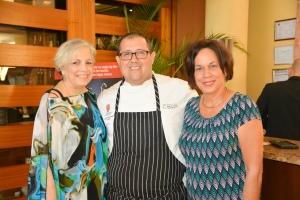 Lizette Perez, Chef Elvin Rosado y Elizabeth Blanc