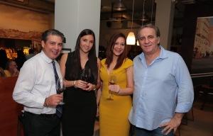 Pedro Alvarado, Macarena Esteller, Rachelle Fajardo y Sandro Calenda