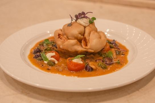 Seafood Empanadas with Livornese Sauce