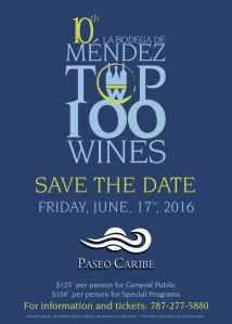 Top 100 W Save the date Junio 17 Top 100 wines 2016
