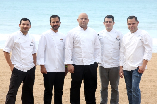 Luis Castillo, J0se Carles, Victor Woods,Alberto Marrero e Isaac Pacheco