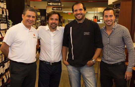 Pedro Alvarado, Esteban Beigun, Chef Zabaleta y Marcos Aldonca